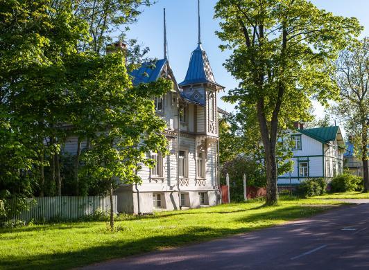 Kaptensvillor i Mariehamn, bild från Visit Åland/Tiina Tahvanainen